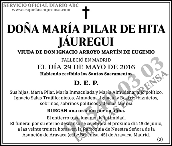 María Pilar de Hita Jáuregui